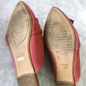 BAMBOO Shoes - Pink Bow Flat Mules